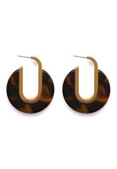 SNÖ of Sweden Gray Oval Earring g/brown Bubbleroom.fi