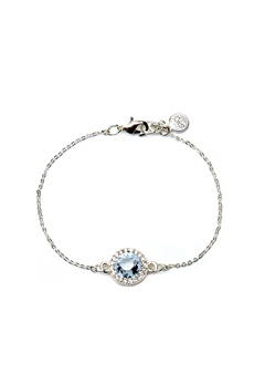 SNÖ of Sweden Lissy Chain Bracelet Silver/Light Aqua Bubbleroom.fi