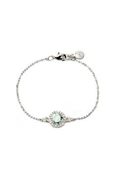 SNÖ of Sweden Lissy Chain Bracelet Silver/Sapphire Bubbleroom.fi