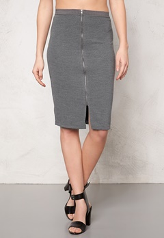 SOAKED IN LUXURY Laureen Skirt Medium Grey Melange Bubbleroom.fi