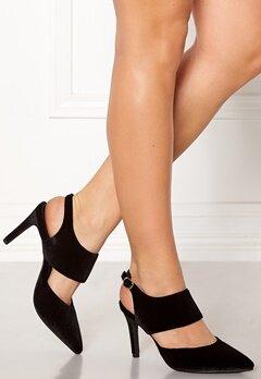 SOFIE SCHNOOR Shoe Open Stiletto Velvet Black Bubbleroom.fi