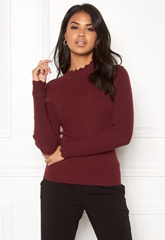 ONLY Sonia L/S Pullover Chocolate Truffle Bubbleroom.fi