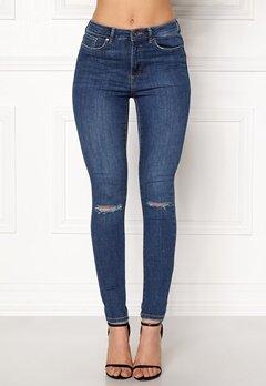 VERO MODA Sophia Hr Skinny Destroy Jeans Medium Blue Denim Bubbleroom.fi