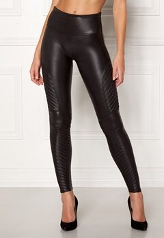 Spanx Moto Leggings Very Black Bubbleroom.fi