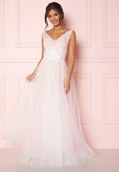 Zetterberg Couture Stella Dress Ivory/Nude bubbleroom.fi