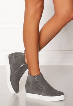 Steve Madden Wedgie Sneaker Shoes Grey Suede Bubbleroom.fi
