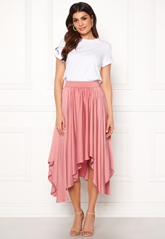 VILA Sulla Asymetric Skirt Brandied Apricot Bubbleroom.fi