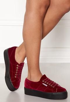 Superga Velvet Sneakers Red Bubbleroom.fi