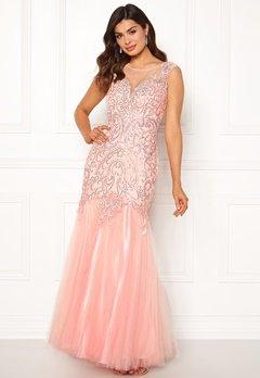 SUSANNA RIVIERI Embellished Shine Dress Blush Bubbleroom.fi