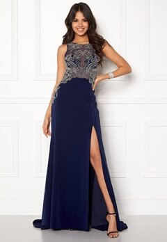 SUSANNA RIVIERI Emballished Sparkling Dress Navy Bubbleroom.fi