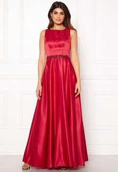 SUSANNA RIVIERI Ceremonial Satin Dress Red Bubbleroom.fi