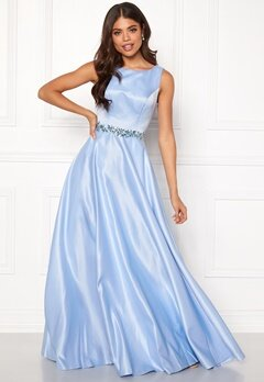 SUSANNA RIVIERI Ceremonial Satin Dress Ice Blue Bubbleroom.fi