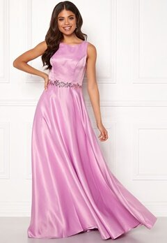 SUSANNA RIVIERI Ceremonial Satin Dress Violet Bubbleroom.fi