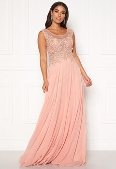 SUSANNA RIVIERI Dream Chiffon Dress Blush Bubbleroom.fi