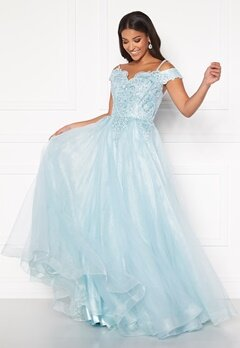 SUSANNA RIVIERI Elsa Prom Dress Ice Blue Bubbleroom.fi