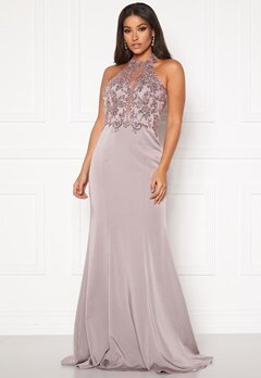SUSANNA RIVIERI Halterneck Dream Dress Mauve Bubbleroom.fi
