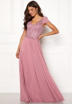 SUSANNA RIVIERI Short Sleeve Prom Dress Rose Bubbleroom.fi