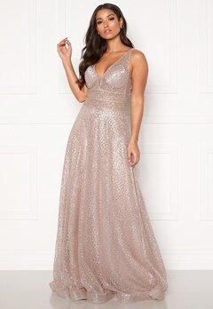 SUSANNA RIVIERI Sparkling Glitter Gown Mauve Bubbleroom.fi