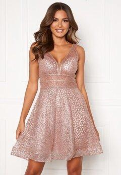 SUSANNA RIVIERI Sparkling Short Glitter Gown Mauve Bubbleroom.fi