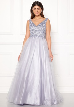 SUSANNA RIVIERI Sparkling Tulle Dress Ice Blue Bubbleroom.fi