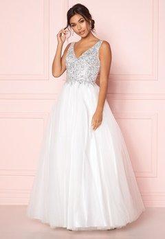 SUSANNA RIVIERI Sparkling Tulle Dress Ivory Bubbleroom.fi