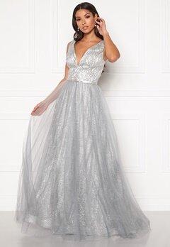 SUSANNA RIVIERI Stardust Gown Silver Bubbleroom.fi
