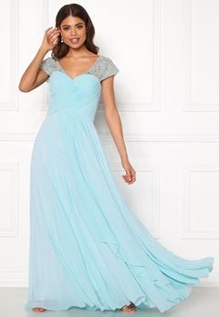 SUSANNA RIVIERI Sweetheart Chiffon Dress Ice Blue Bubbleroom.fi
