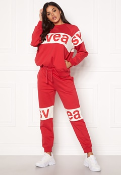 Svea 2 Col Big Svea Logo Sweat Pants 400 Red Bubbleroom.fi