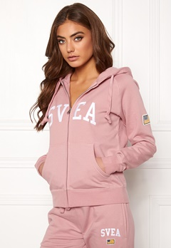 Svea Judit Zip Hood Dusty Pink Bubbleroom.fi