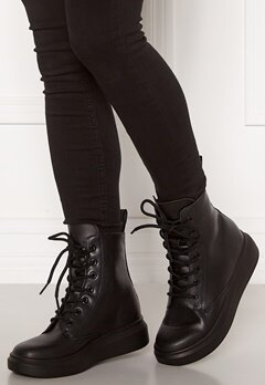 Svea Sneaker Leather Boots 900 Black Bubbleroom.fi