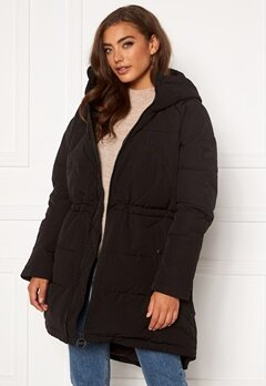 Svea W. Hourglass Puffer Jacket 900 Black Bubbleroom.fi