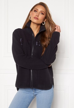 Svea W. Pile Turtle Zip Sweat 600 Navy Bubbleroom.fi