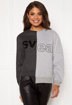 Svea W. Remix Sweat 943 Washed Black / M Bubbleroom.fi
