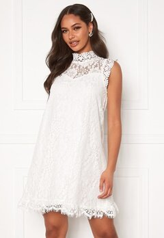 DRY LAKE Swing Dress White Lace Bubbleroom.fi