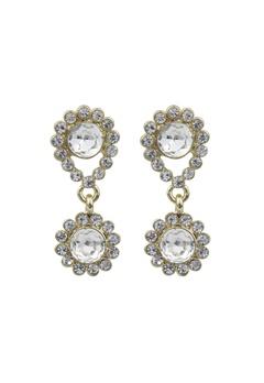 SNÖ of Sweden Swire Small Earrings Gold/Clear Bubbleroom.fi