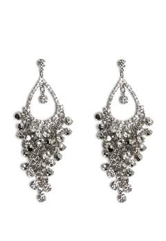 Love Rocks Tear Shape Earrings Silver Bubbleroom.fi
