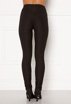 AX Paris Textured Sculpt Leggings Black Bubbleroom.fi