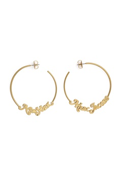 The Marc Jacobs The Logo Hoops Small 710 Gold Bubbleroom.fi