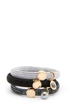 The Marc Jacobs The Medallion Abalone Elastics 002 Black Multi/Gold Bubbleroom.fi