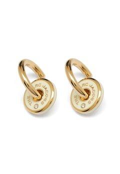 The Marc Jacobs The Medallion Hoop Earrings 001 Black/Gold bubbleroom.fi