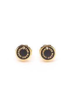 The Marc Jacobs The Medallion Studs Earrings 001 Black/Gold bubbleroom.fi