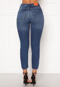 the Odenim O-Crop Jeans 02 Midblue Bubbleroom.fi