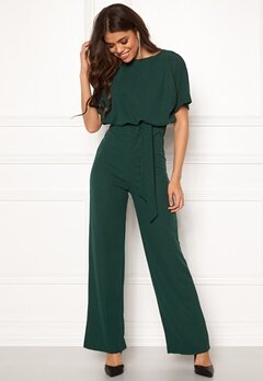 AX Paris Tie Waist Jumpsuit Teal Bubbleroom.fi