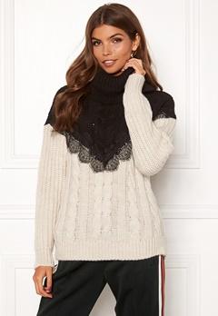 TIFFOSI Lacey Sweater 110 Beige Bubbleroom.fi