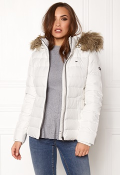 TOMMY JEANS Basic Down Jacket Snow white Bubbleroom.fi