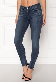 TOMMY JEANS Mid Rise Skinny Nora Dynamic new blue Bubbleroom.fi