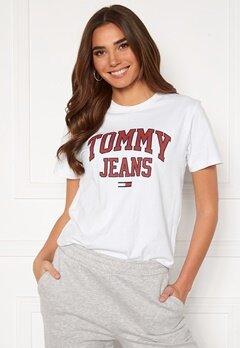 TOMMY JEANS Collegiate Logo Tee YBR White Bubbleroom.fi