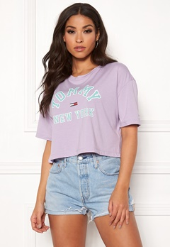 TOMMY JEANS Collegiate Tee 575 Pastel Lilac Bubbleroom.fi