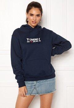 TOMMY JEANS Corp Logo Hoodie 002 Black Iris Bubbleroom.fi