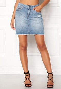 TOMMY JEANS Denim Skirt 911 Bleep Light Blue Bubbleroom.fi